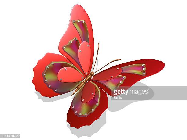 Red Techno - butterfly