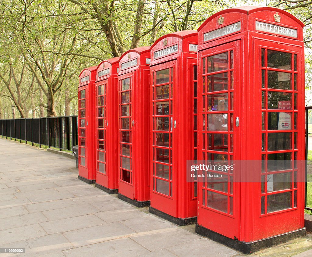 Red Telephone Boxes : Stock Photo