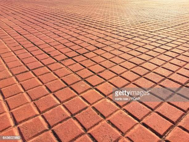 Red terracotta sidewalk