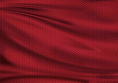 Red texture textile fabric background, football illustration