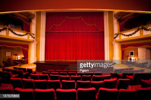 Red theater performance stage