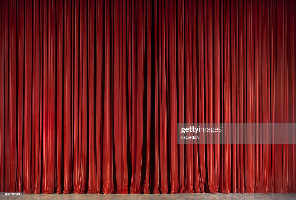 red theatre curtain : Stock Photo
