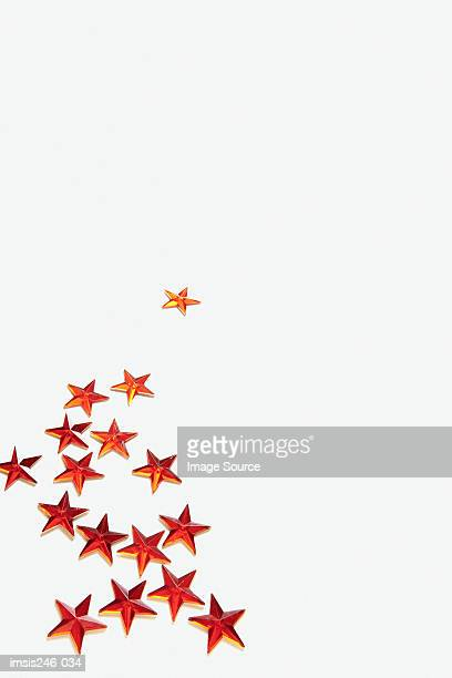 Red tinsel stars