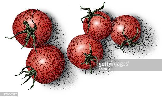 レッドトマト-色付きインクの描出