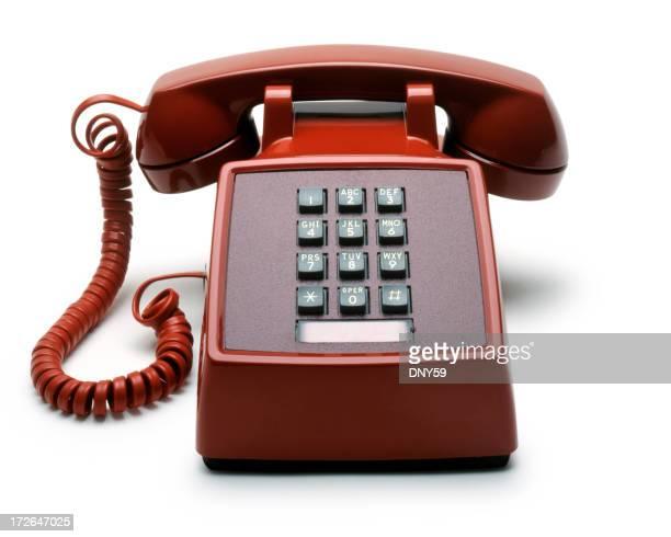 Touchtone teléfono rojo
