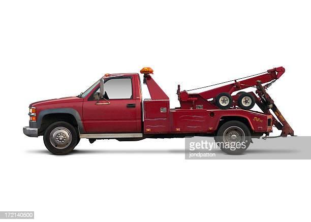 Red Abschleppwagen truck