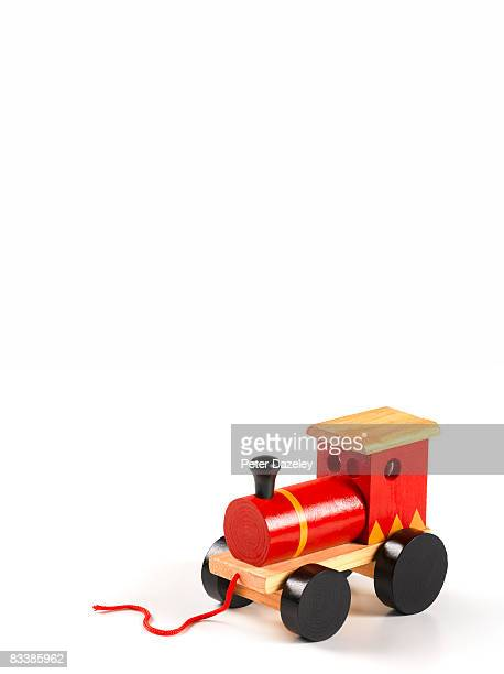 Red toy train engine