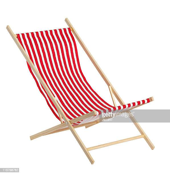 Red toys chaise longue on white background