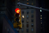 Red traffic light NYC