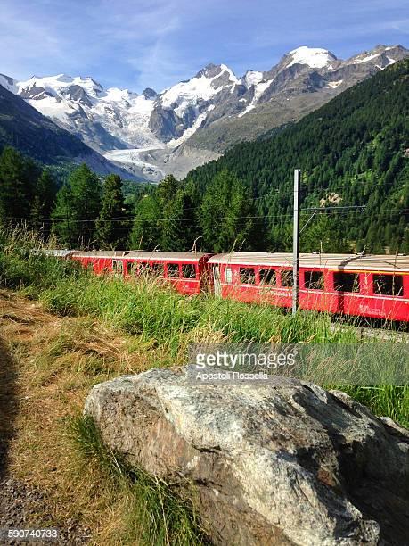 Red train of Bernina