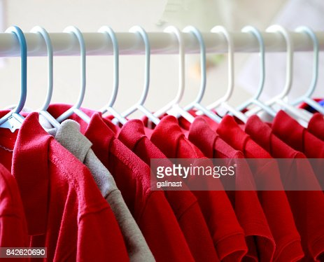 Red T-shirts : Stock Photo
