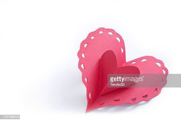 Red Valentine Paper Heart Popup, Hand Crafted Card