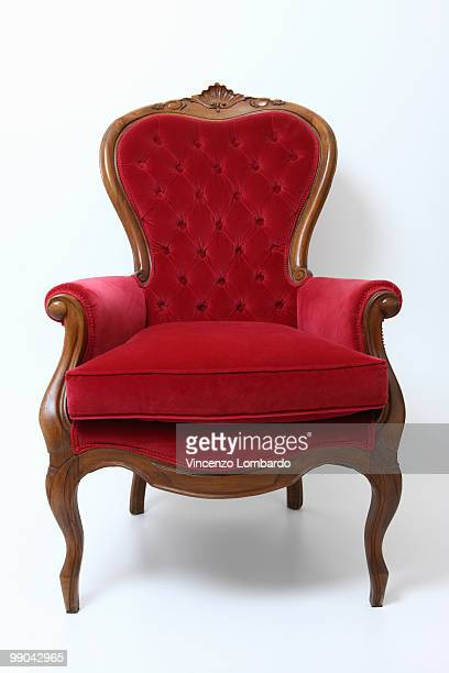 Red Velvet Armachair
