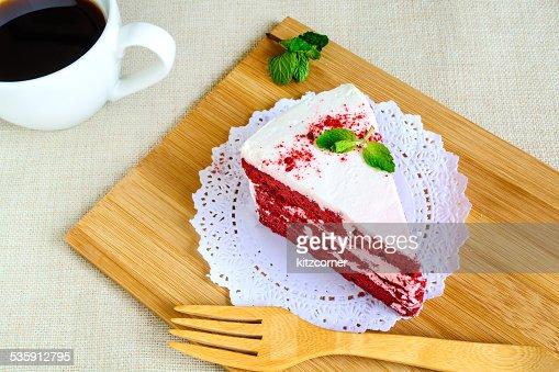 Pastel de terciopelo rojo : Foto de stock
