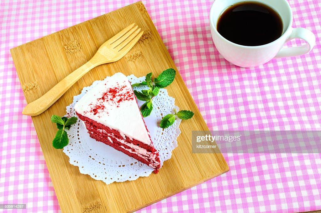 Red velvet cake : Stock Photo