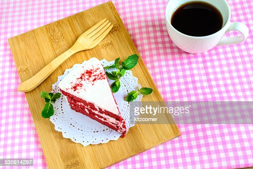 Red velvet cake : Stock Photo