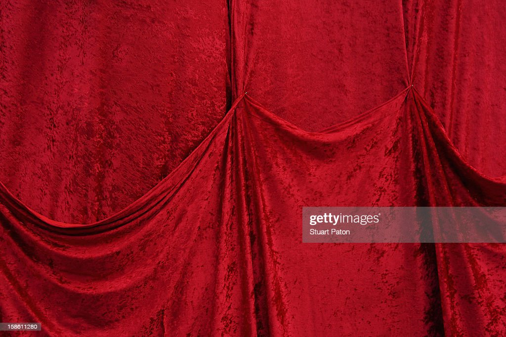 Red velvet covering : Stock Photo
