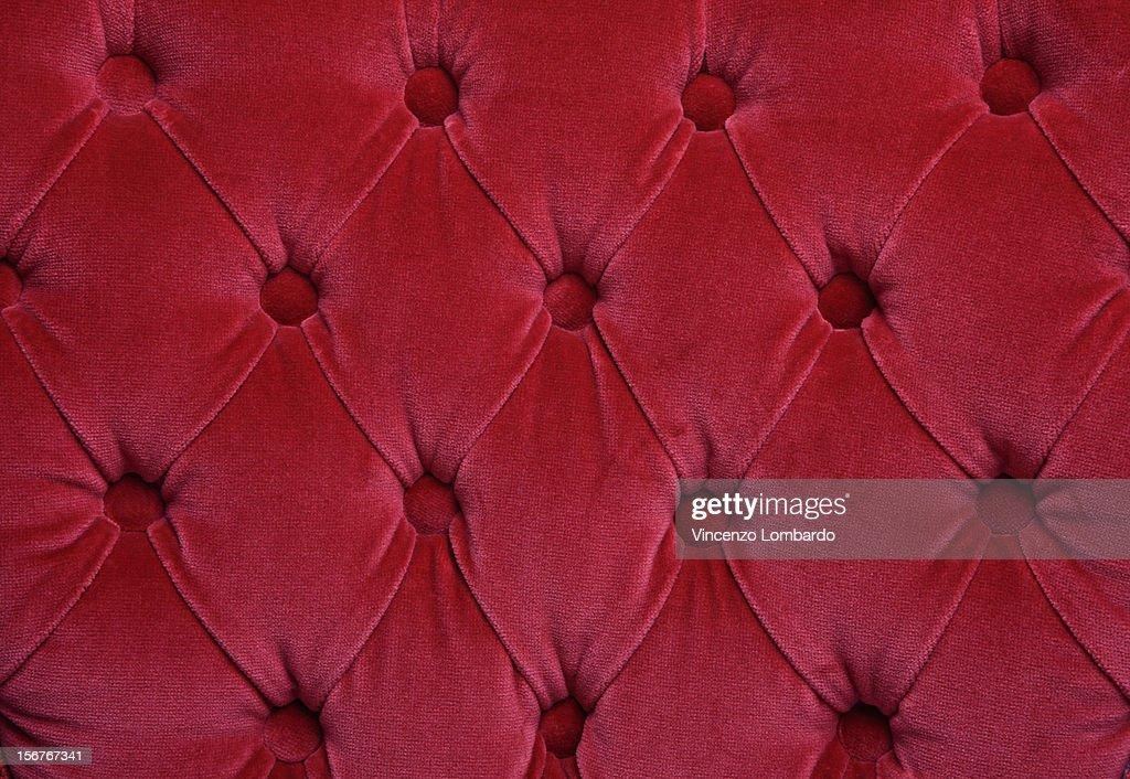 Red velvet cushion detail