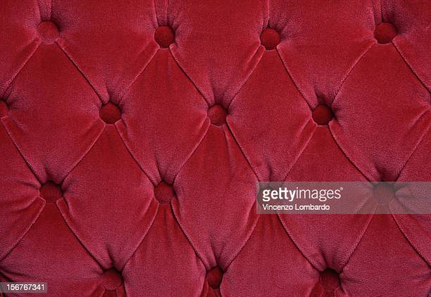 Red velvet cushion detail