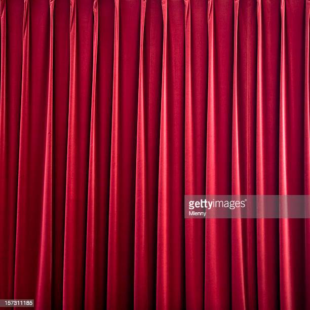 red velvet stage curtain
