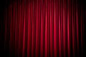 red velvet theatre curtain