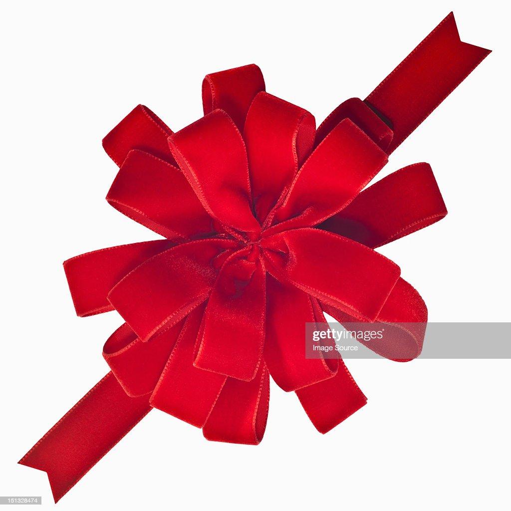Red velveteen bow