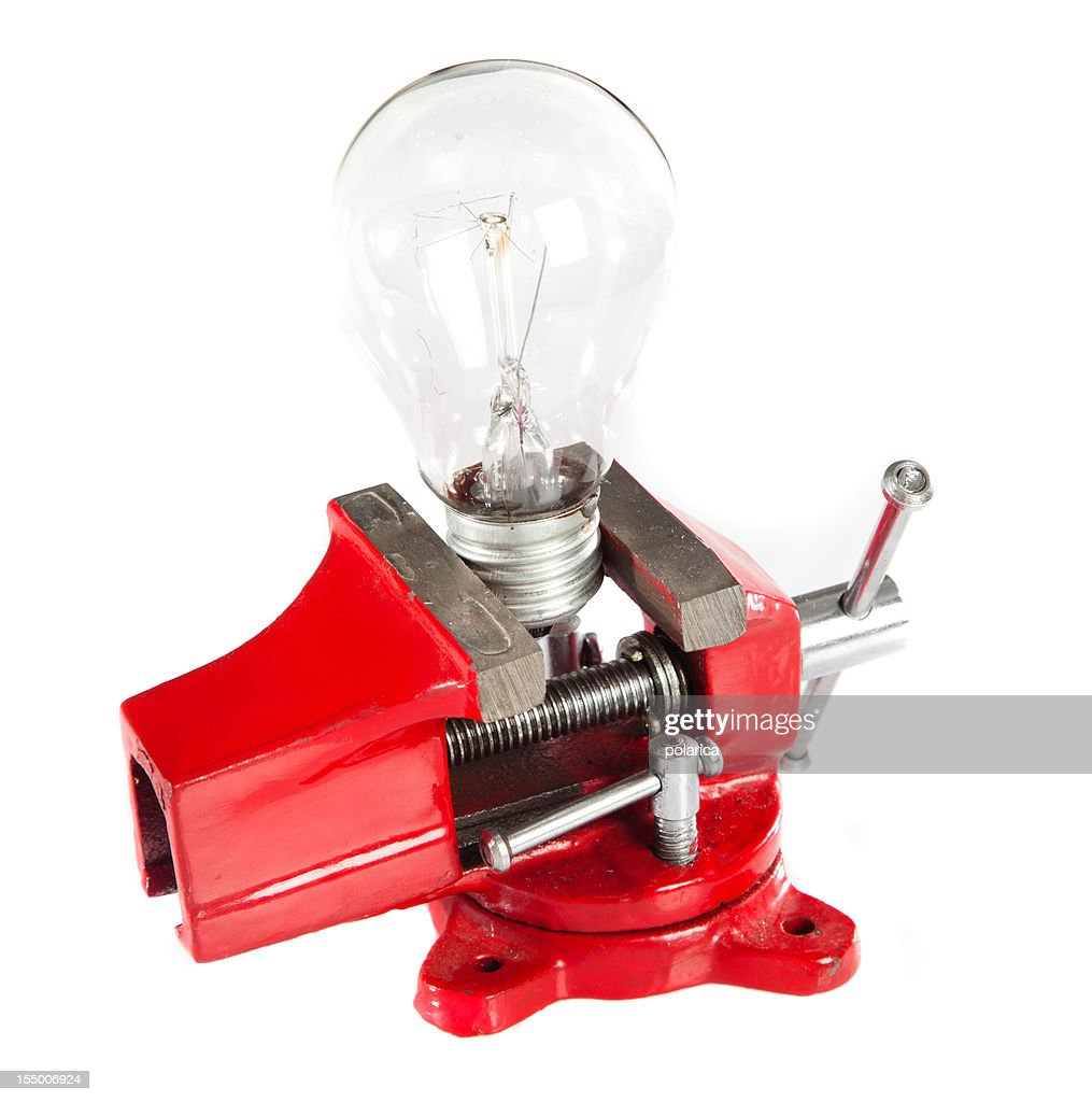 Red vice tool : Stock Photo