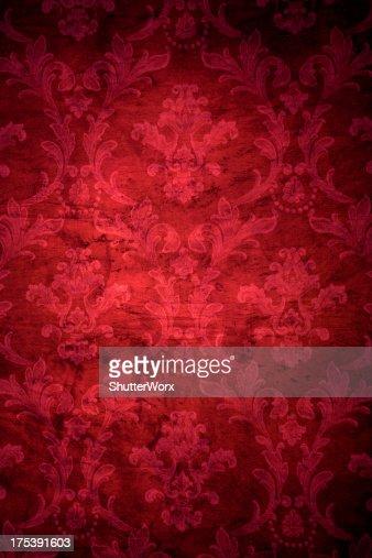 Red Victorian Grunge Background