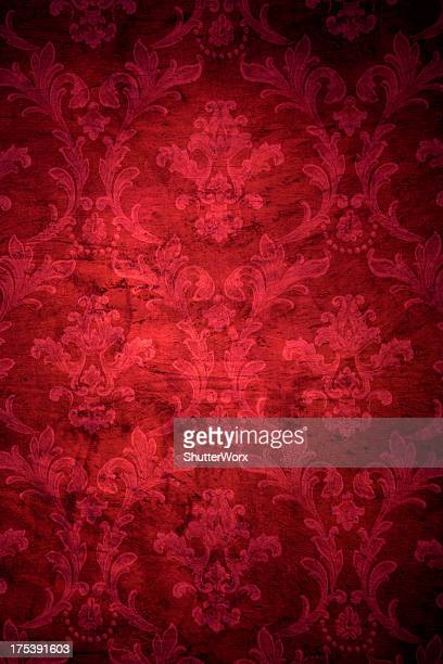 Red Victorian Grunge Background
