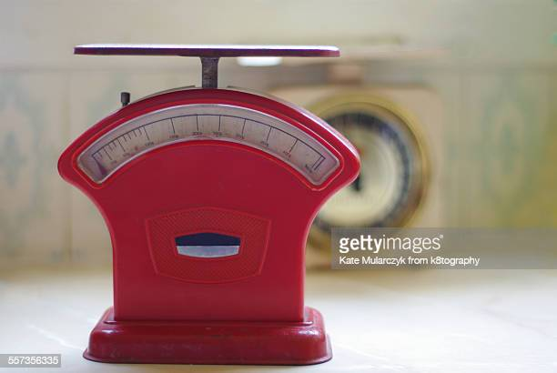 Red Vintage Kitchen Scales