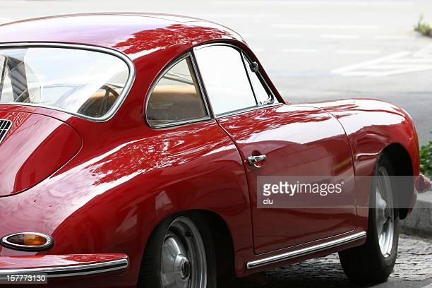 Red vintage porsche 356