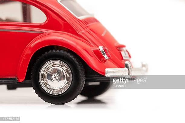 Rojo Volkswagen escarabajo