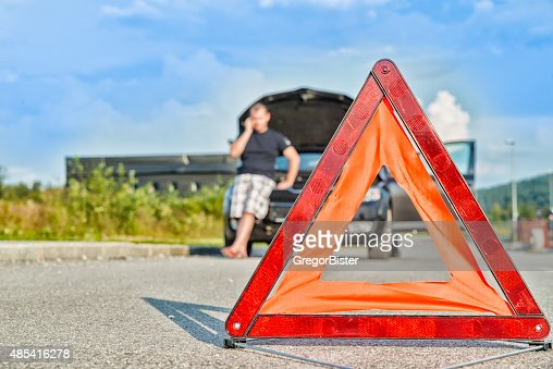 Red warning triangle : Stock Photo