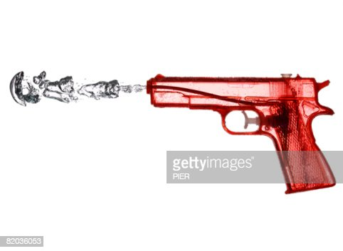 Red Water pistol : Stock Photo