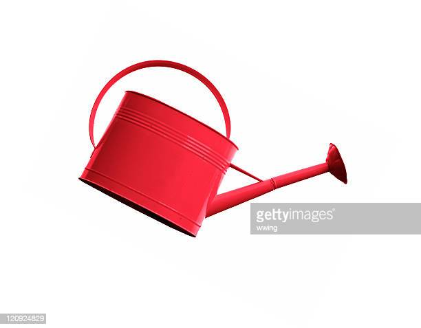 Red Watering Can- Slanted like Pouring on White