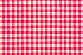 Red, whire checkered tartan, pattern High resolution photo
