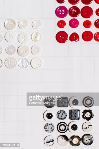 Red, white and black buttons... : Stock Photo