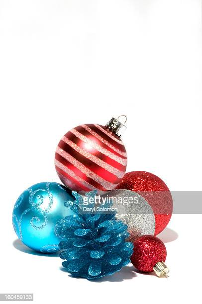 red white and blue christmas ornaments - Red White And Turquoise Christmas Decor
