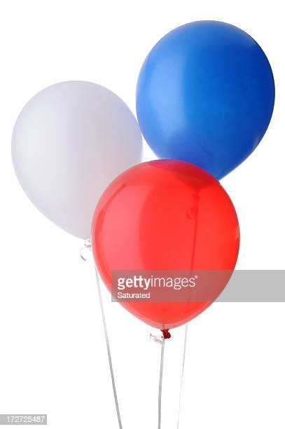 Red, White and Blue Helium Balloons - Isolated