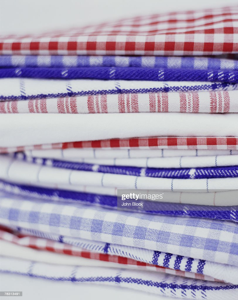 Red, White and Blue Linens : Stock Photo