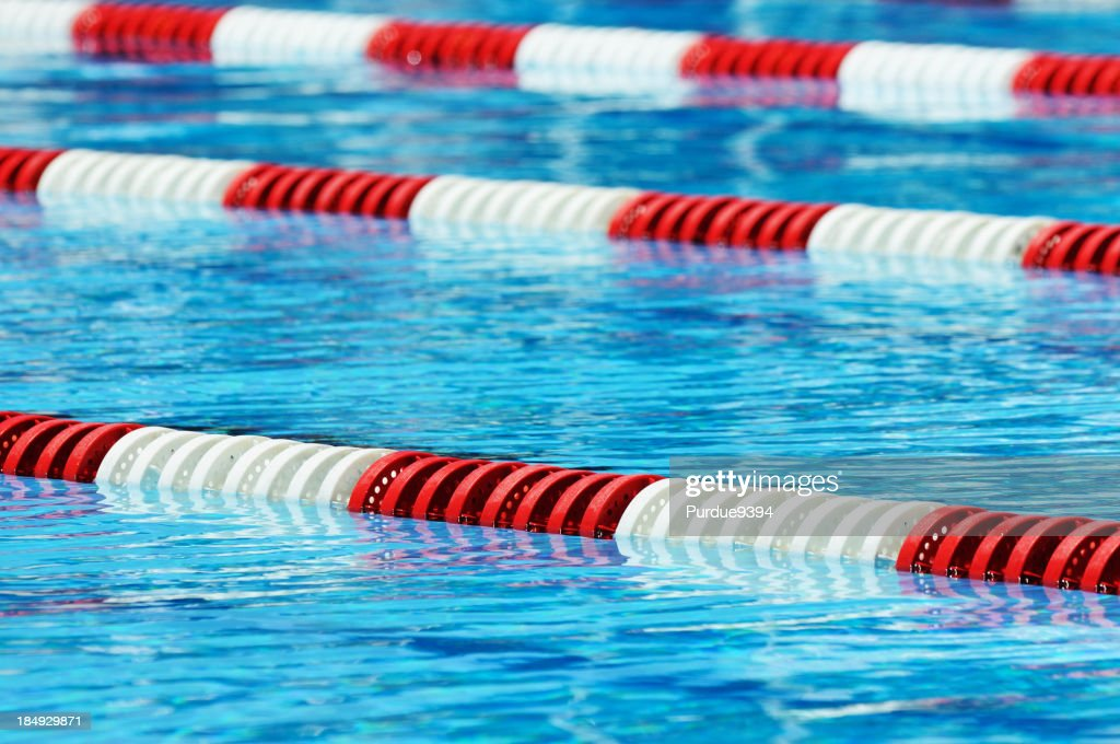 red white and blue olympic size swimming pool lane marker stock photo - Olympic Swimming Pool Lanes