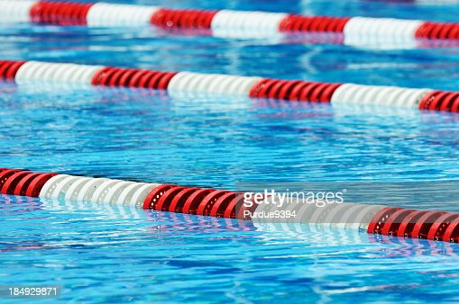 red white and blue olympic size swimming pool lane marker stock photo getty images