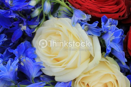Red White And Blue Wedding Flowers Stock Photo Thinkstock