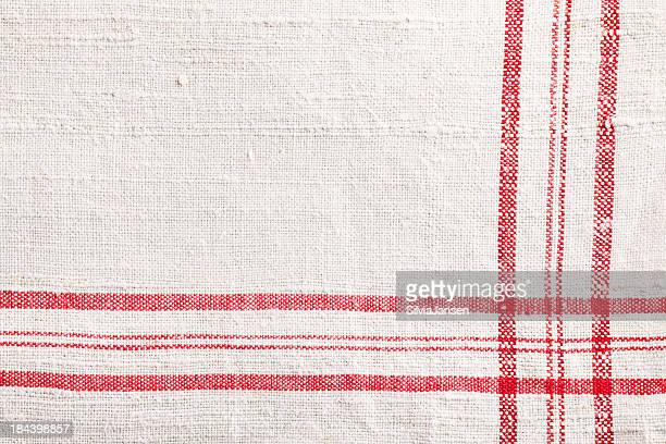 red white dishtowel Stoff Textur