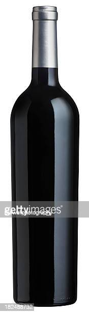 Red Wine Bottle against a white background