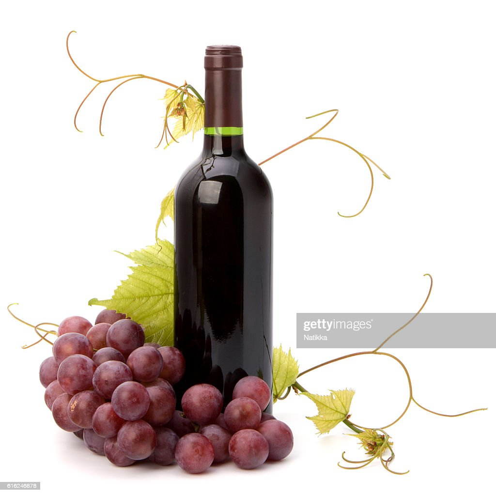 red wine bottle : Stock Photo