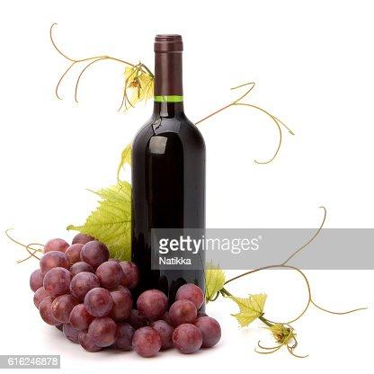red wine bottle : Stock Photo