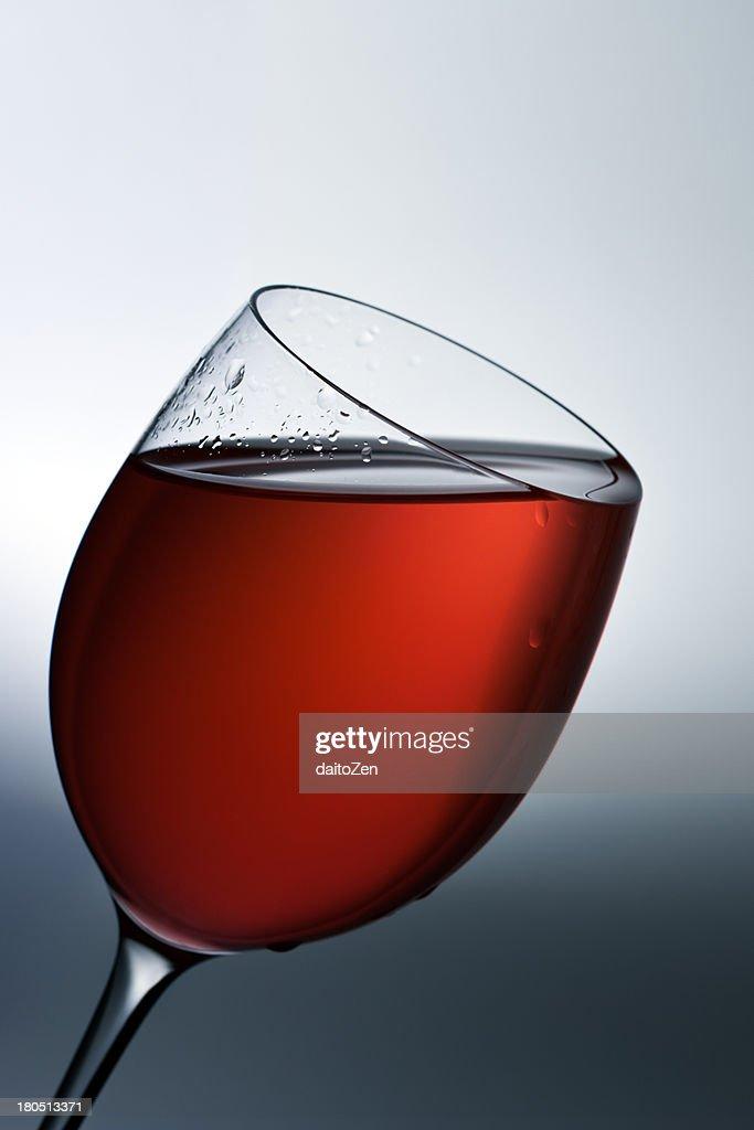 Red wine in wine glass : Stock Photo