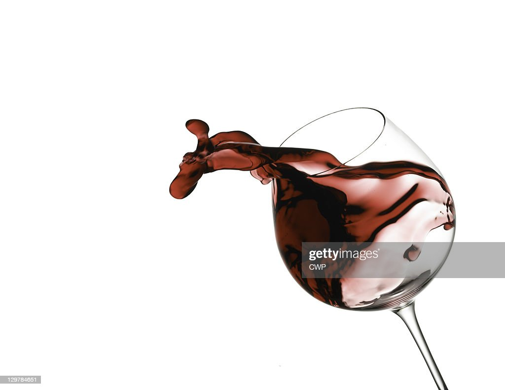 Red wine spill : Stock Photo
