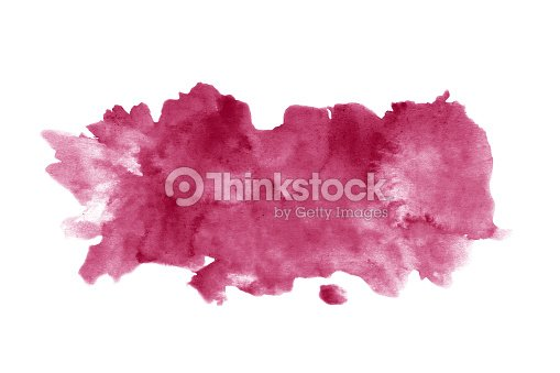 Red wine stain isolated on white background. Realistic wine texture watercolor grunge brush. Dark red mark, watercolour drawing. : Stock Photo